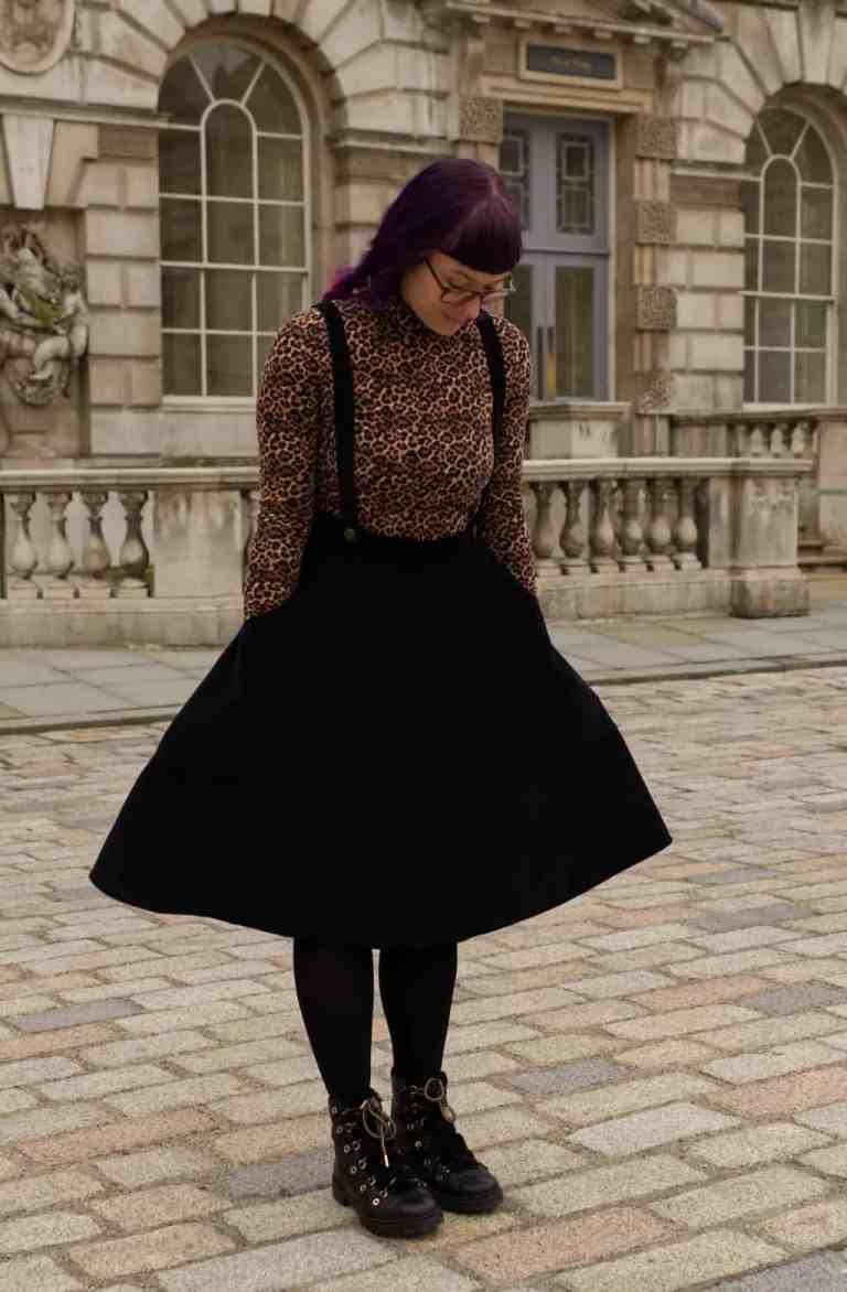 Black Corduroy Madeleine Skirt 2843