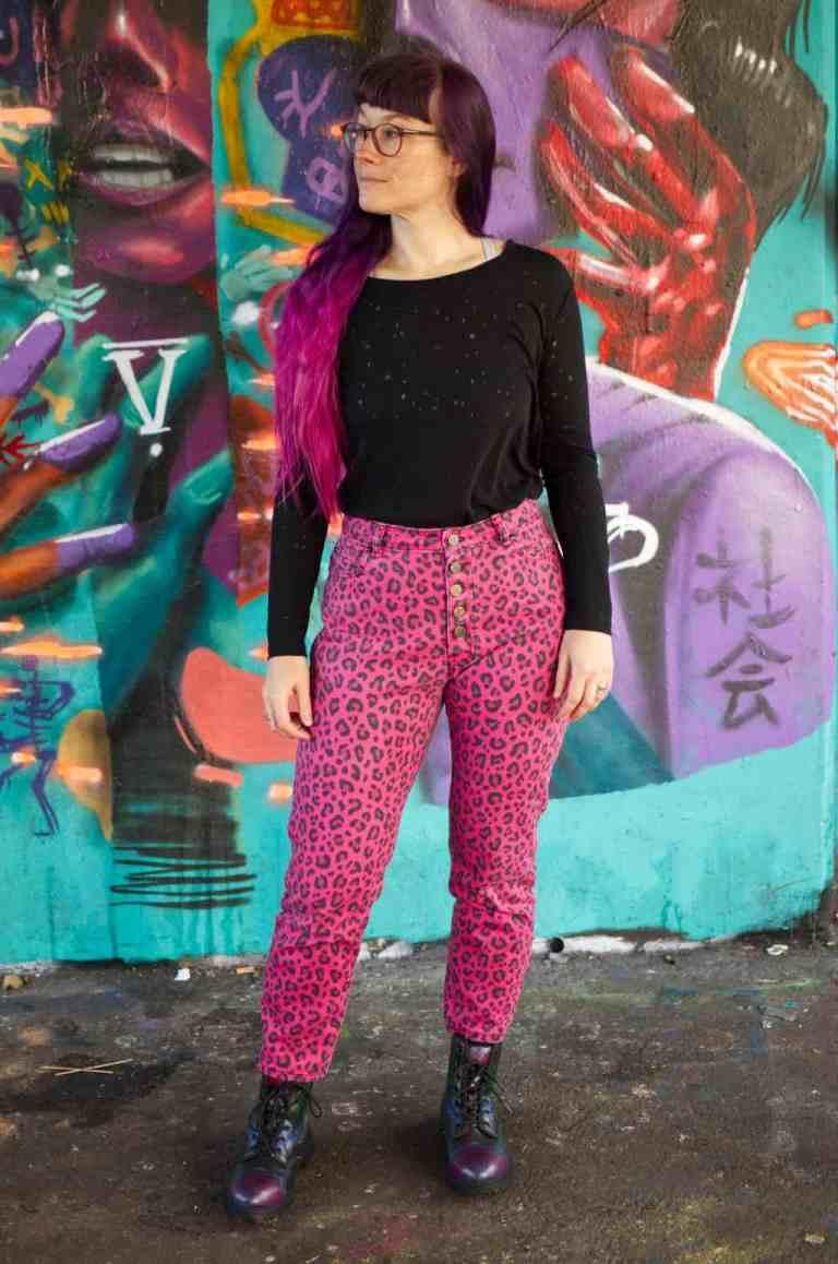 Leopard Pink Dawn Jeans 7731